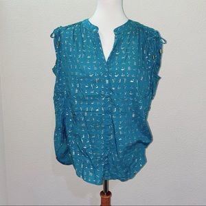 Anthro Danielle Kroll Blouse Size Small